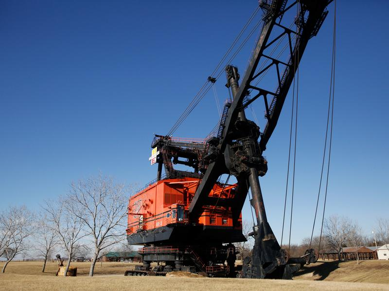 Big Brutus is the world's largest electric shovel. It stands 16 stories high amid the fields of rural southeast Kansas. The coal strip mine it helped clear of rock and dirt has long been shut down, and Brutus has been turned into a museum.