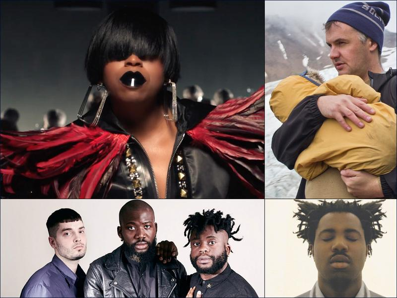 Clockwise from upper left: Missy Elliott, Mount Eerie, Sampha, Young Fathers