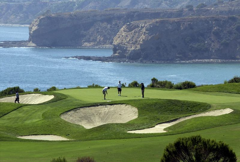 Golfers play a round at the Trump National Golf Club - Los Angeles in 2004. (Reed Saxon/AP)