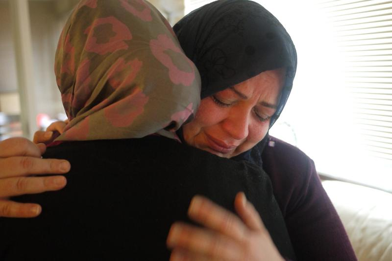 Imtithal Al Halabi, the family matriarch, does not know when her family will be reunited again. (Liz Jones/KUOW)