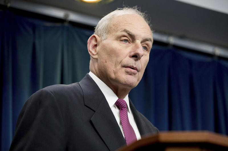 Homeland Security Secretary John Kelly speaks at a news conference at the U.S. Customs and Border Protection headquarters in Washington, Tuesday, Jan. 31, 2017, to discuss the operational implementation of the president's executive orders. (Andrew Harnik/AP)