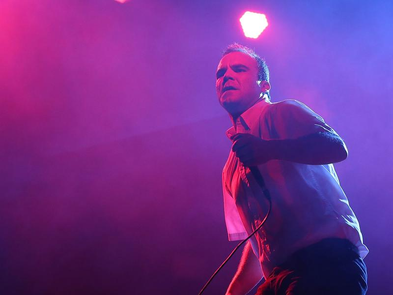 Samuel T. Herring of Future Islands performs at Splendour In the Grass 2014, July 26, 2014 in Byron Bay, Australia.