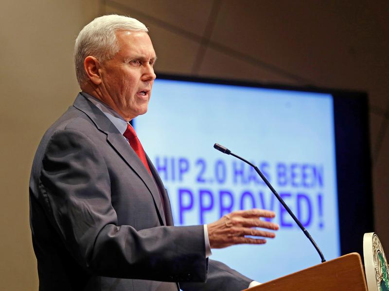As Indiana Governor, Mike Pence announced in 2015 that the federal Centers for Medicare & Medicaid Services approved a waiver for the state's Medicaid experiment.