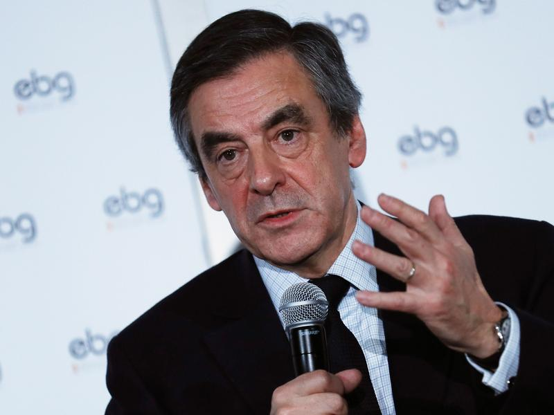 French presidential candidate Francois Fillon paid his wife, Penelope, about $900,000 of taxpayer money over a 15-year period, according to the satirical newspaper <em>Le Canard Enchaine.</em>