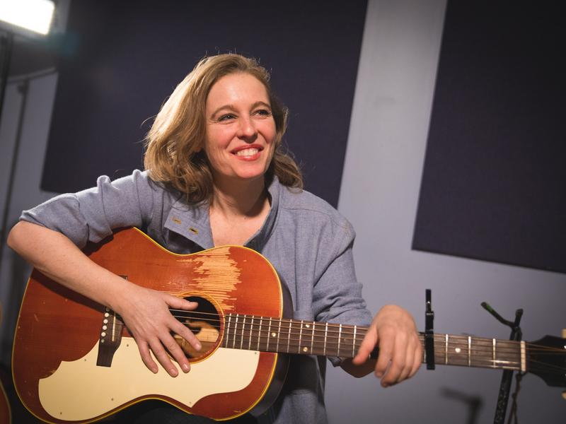 Tift Merritt performs in the <em>World Cafe</em> studio.