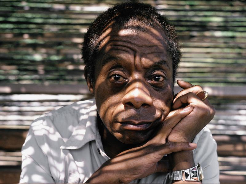 Writer James Baldwin at home in Saint Paul de Vence, South of France, in 1985.