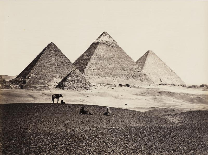 <em>The Pyramids of El-Geezeh from the South West</em>, from<em> </em><em>Egypt, Sinai and Jerusalem: A Series of Twenty Photographic Views</em>, c. 1860.