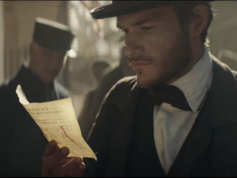 A still from Budweiser's Super Bowl ad tells the story of one of Budweiser's founders.
