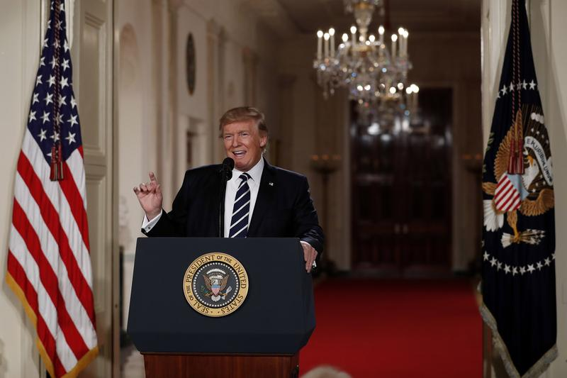 President Donald Trump speaks in the East Room of the White House in Washington to announce Judge Neil Gorsuch as his nominee for the Supreme Court. (Carolyn Kaster/AP)