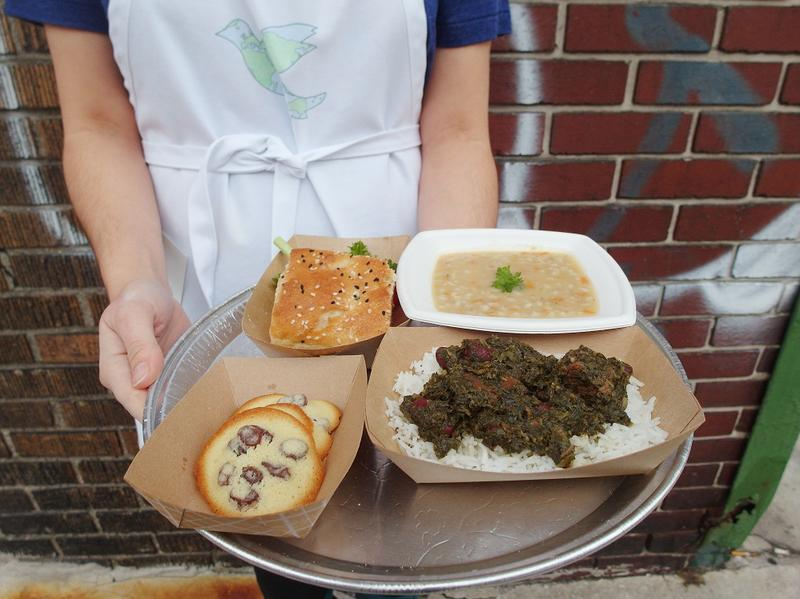 At Saturday's pop-up event in Detroit, Heshmati served an a la carte menu.