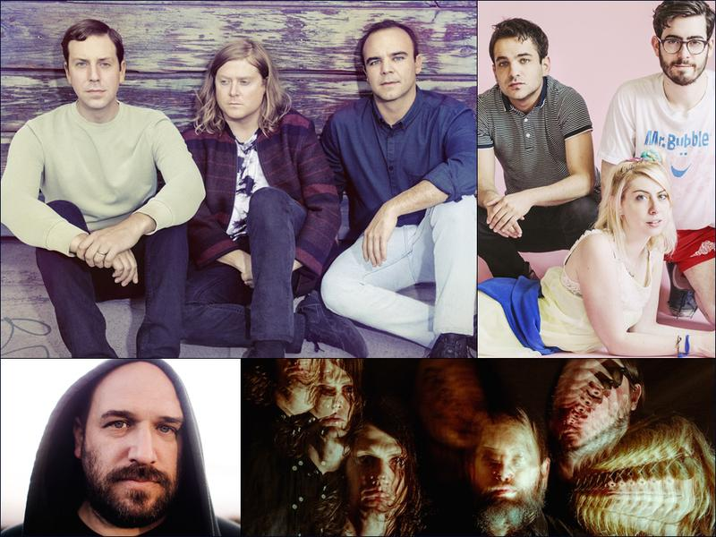 Clockwise from upper left: Future Islands, Charly Bliss, The Black Angels, David Bazan