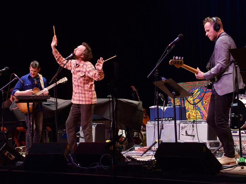 Guster performs on <em>Mountain Stage</em>.