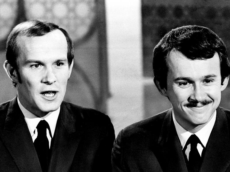 Tom and Dick Smothers battled with CBS censors over the content of <em>The Smothers Brothers Comedy Hour.</em>