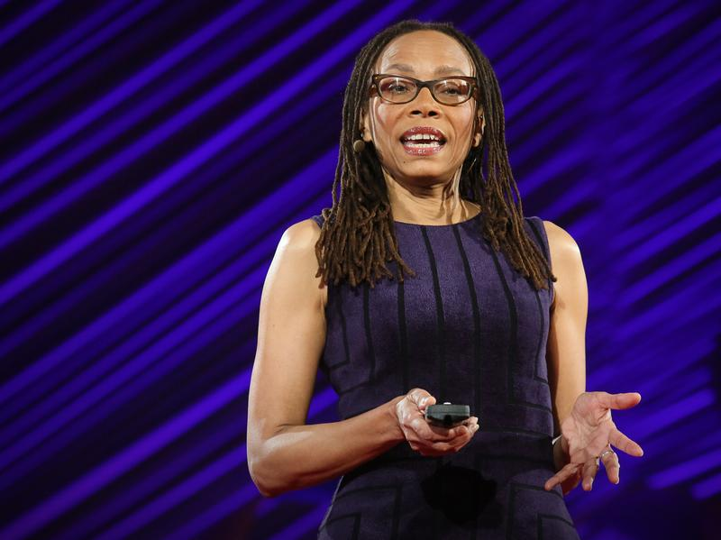 Dorothy Roberts speaks on the TED stage at TEDMED 2015.