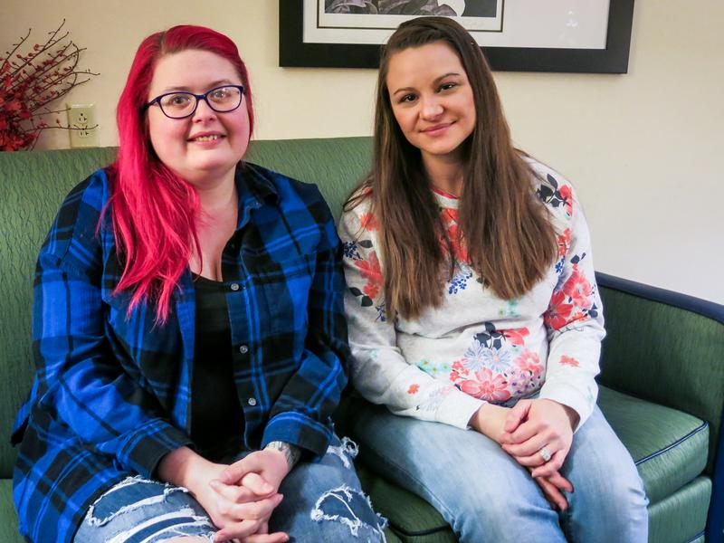 """Jamie Ruppert (R) was featured in an NPR story about Obama voters who supported Donald Trump in last year's presidential election. Amy Whitenight (L) labeled Ruppert an """"idiot"""" in a comment on NPR's Facebook page. They recently met in person to talk about their political differences."""