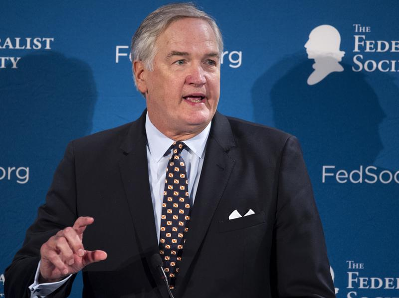 Alabama's newest junior senator is Luther Strange, who has been the state's attorney general. He's seen here at the Federalist Society's convention in Washington, D.C., last fall.