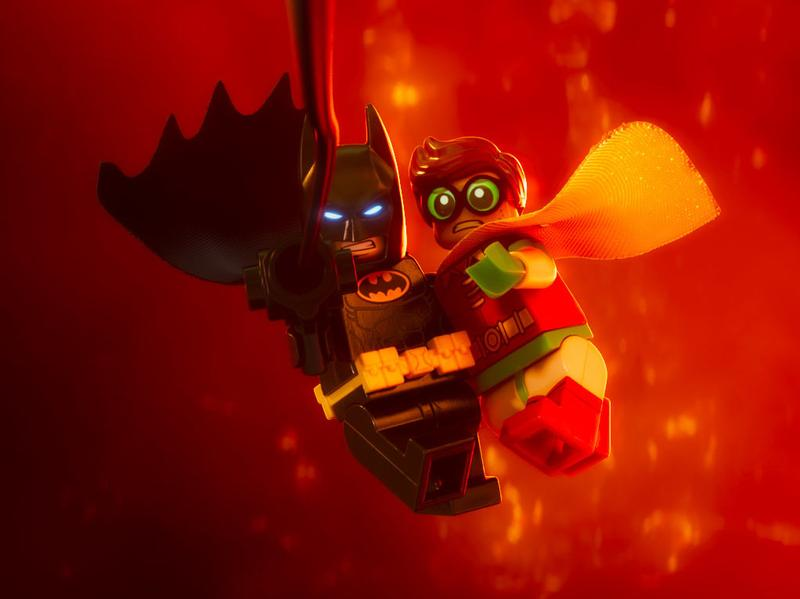 LEGO my ego: Batman (voiced by Will Arnett) learns to accept help from Robin (voiced by Michael Cera) in <em>The LEGO Batman Movie</em>.