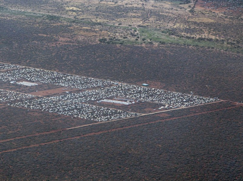 An aerial view of parts of Dadaab, the world's largest refugee camp, in northern Kenya in 2012.