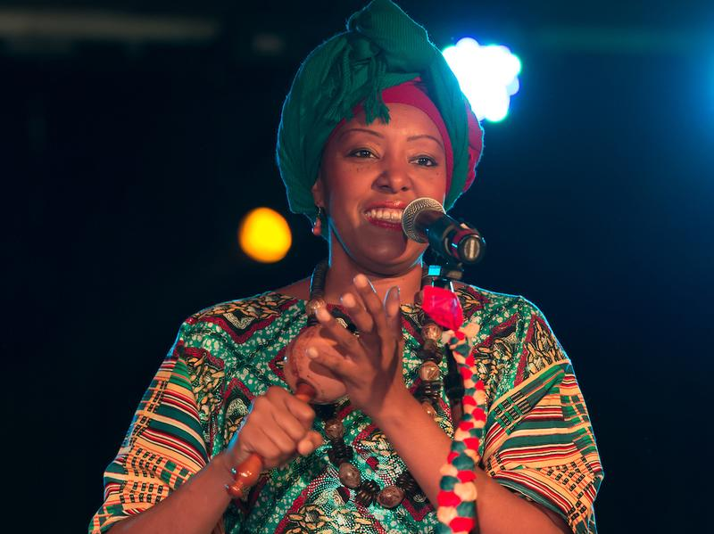 Afro-Venezuelan singer Betsayda Machado, performing at globalFEST in New York City in January.
