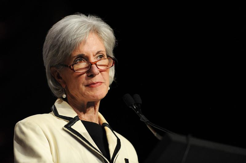 Kathleen Sebelius, then Health and Human Services secretary, at an event in May 2014 in National Harbor, Md. (Patrick Smith/Getty Images)