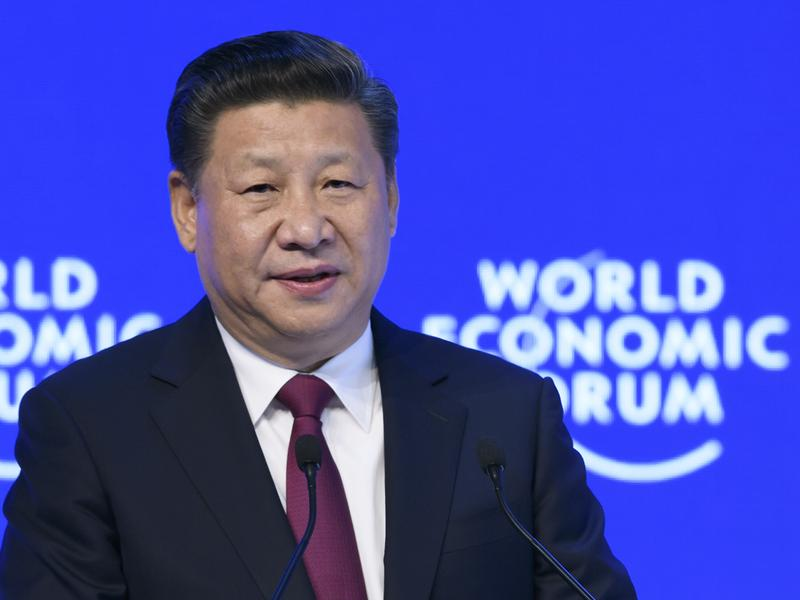 Chinese President Xi Jinping delivers a speech at the World Economic Forum last month in Davos, Switzerland.