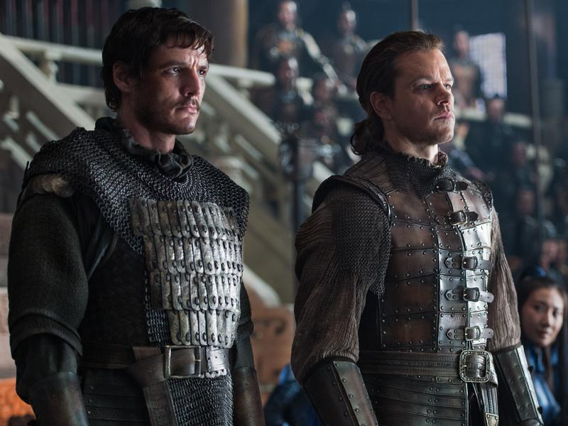 """""""... For The Night Is Dark And Filled With Lizard-People"""": Pero (Pedro Pascal) and William (Matt Damon) in <em>The Great Wall</em>."""