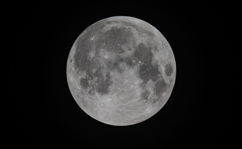 The moon is seen prior to a penumbral eclipse in Somerset, England, in September 2015. (Matt Cardy/Getty Images)