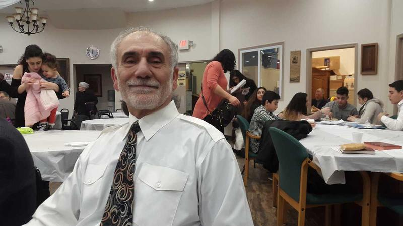 George Khallouf is Syrian Christian and a Trump supporter. He supports the ban on refugees and traveler's from seven Middle-Eastern countries. (Laura Benshoff/WHYY)
