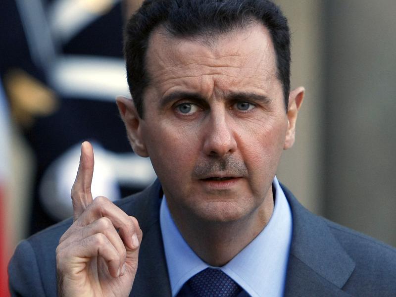 Syria President Bashar al-Assad in Paris in 2010.