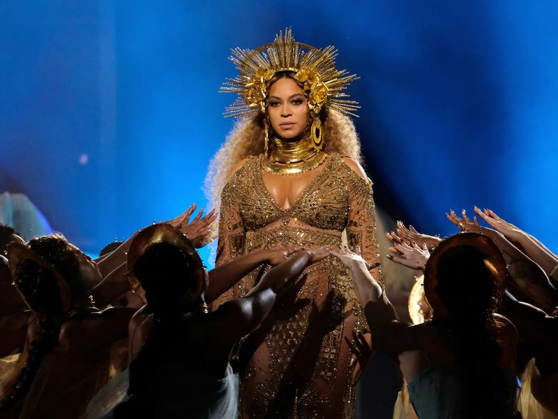 Beyoncé performs at the Grammy Awards on Sunday, February 12. She won the award for best urban contemporary album, but was shut out of the major categories, which were all given to Adele.