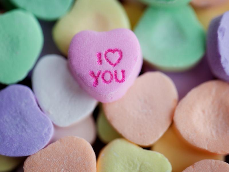 Valentine's Day candy.