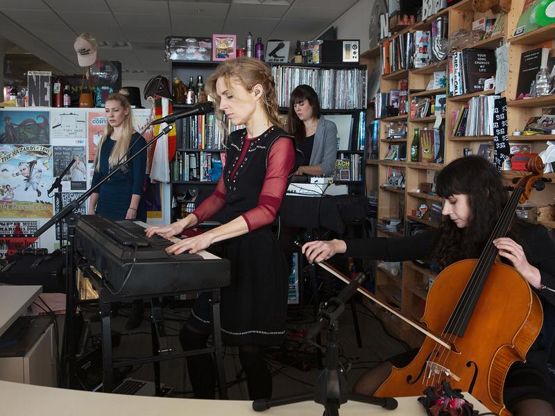 Agnes Obel performs perform a Tiny Desk Concert on Dec. 9, 2016. (Raquel Zaldivar/NPR)