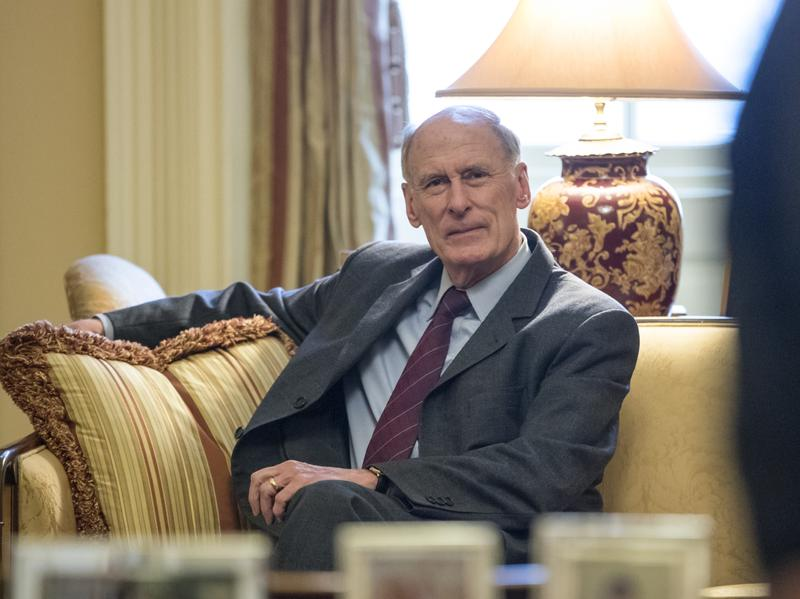 National Intelligence Director-nominee and former Indiana Sen. Dan Coats waits for the start of a meeting with Senate Majority Leader Mitch McConnell  on Jan. 23.