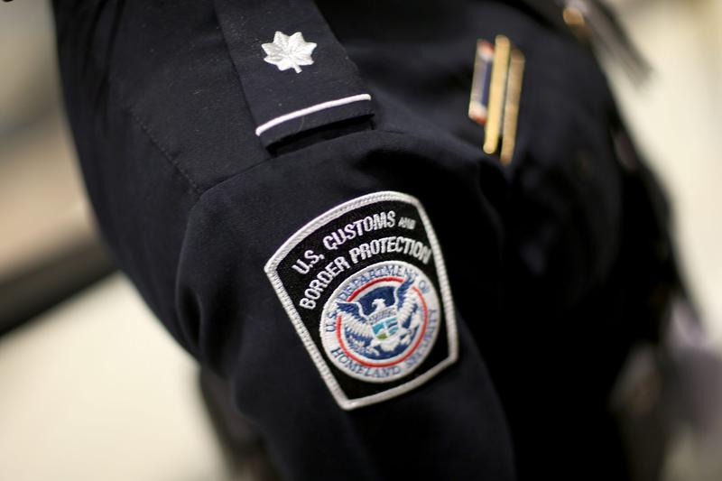 A U.S. Customs and Border Protection officer's patch is seen at Miami International Airport in March 2015 in Miami. (Joe Raedle/Getty Images)