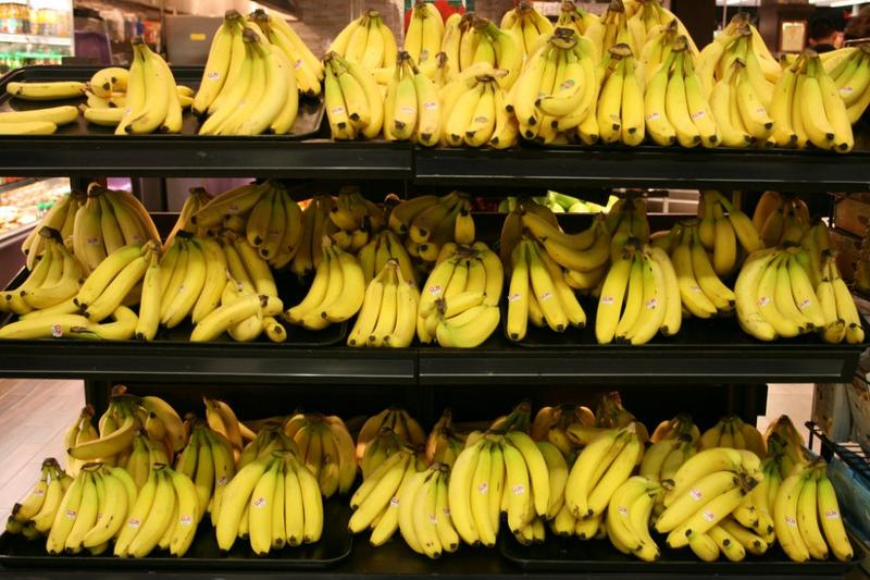 """When the high frequency music was playing, more people took bananas from the light-colored shelves as compared to the dark-colored shelves -- and vice versa,"""" said BC professor Henrik Hagtvedt, of his experiment. (un_owen/Flickr)"""