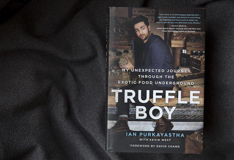 "The cover of ""Truffle Boy,"" by Ian Purkayastha. (Robin Lubbock/WBUR)"