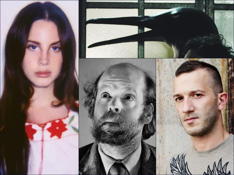 """Clockwise from upper left: Lana Del Rey, The Penguin Cafe, Colin Stetson, Bonnie """"Prince"""" Billy"""