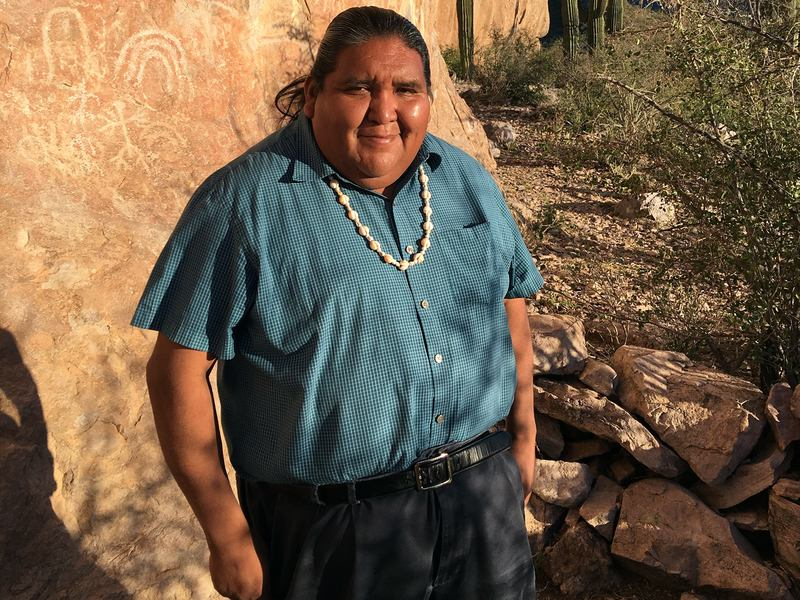 "Tohono O'odham Vice Chairman Verlon Jose says ""over my dead body will we build a wall"" on the reservation."