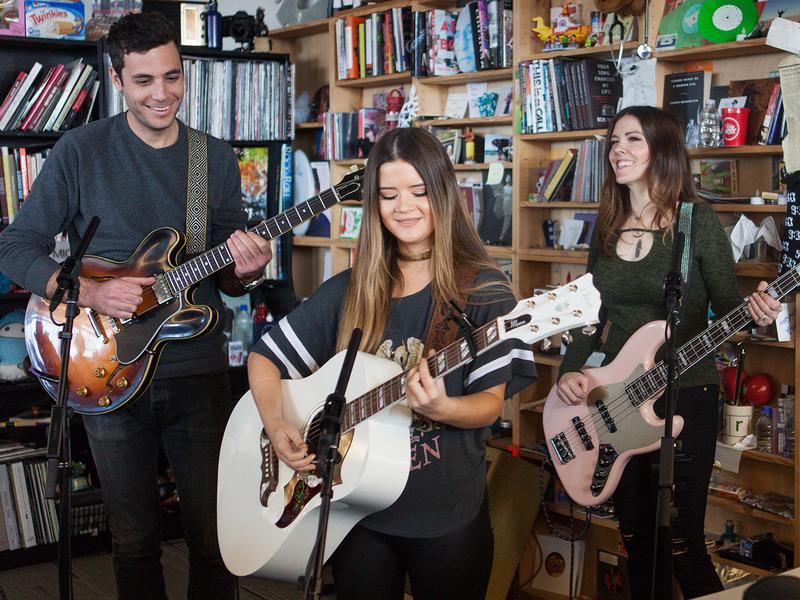 Maren Morris performs perform a Tiny Desk Concert on Feb. 16, 2017. (Claire Harbage/NPR)
