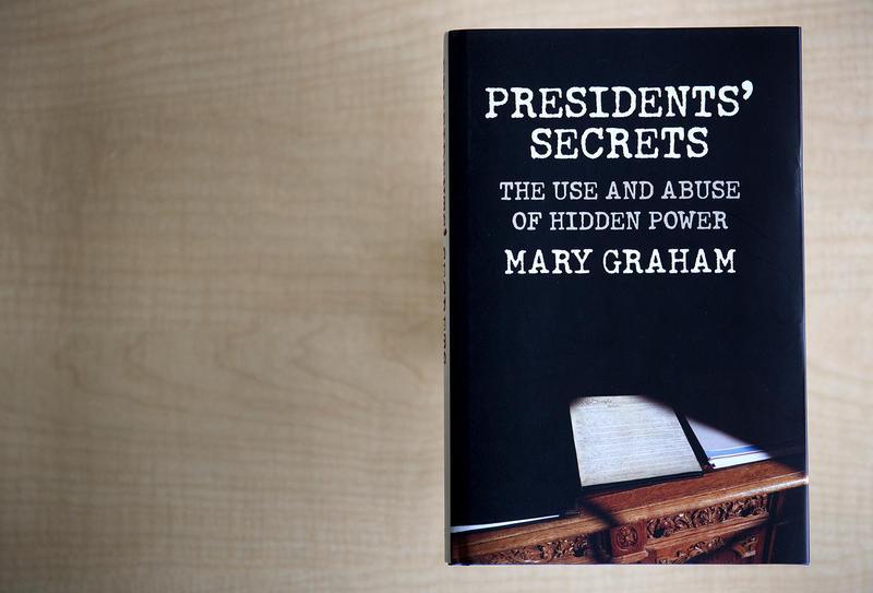"The cover of ""Presidents' Secrets,"" by Mary Graham. (Robin Lubbock/WBUR)"