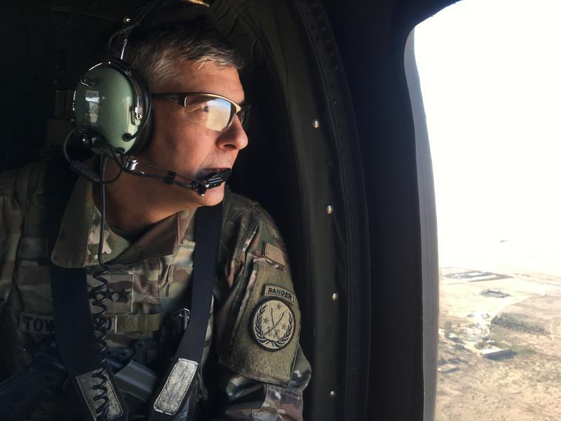 """""""Our Iraqi and Syrian partners are sacrificing not only for their own countries, but for the region and the rest of the world as well,"""" says Lt. Gen. Stephen Townsend, the American commander as U.S. forces help Iraqi troops in Mosul."""