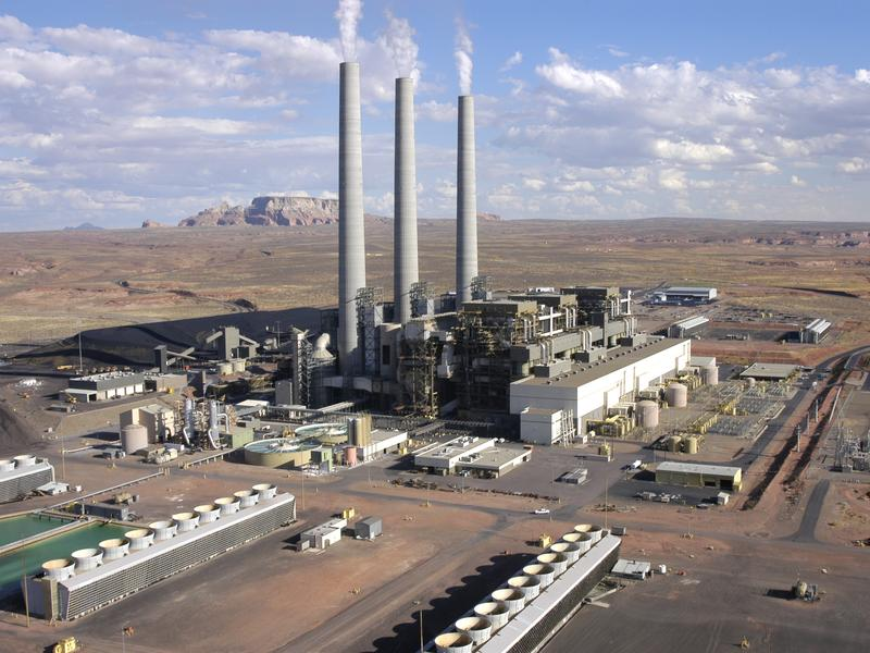 The Navajo Generating Station located on the Navajo Indian Reservation, near Page, Ariz.
