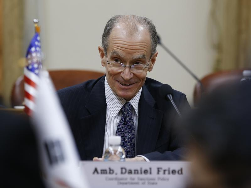 "Longtime diplomat Daniel Fried, shown here at a meeting in Seoul in 2016, told colleagues at his retirement party on Friday he's ""learned never to underestimate the possibility of change."""