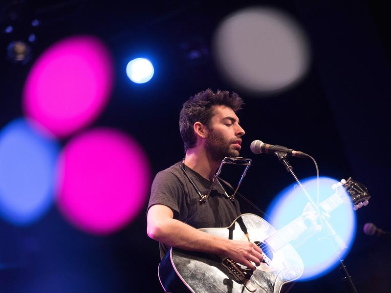 Leif Vollebekk performs at World Cafe Live in Philadelphia.