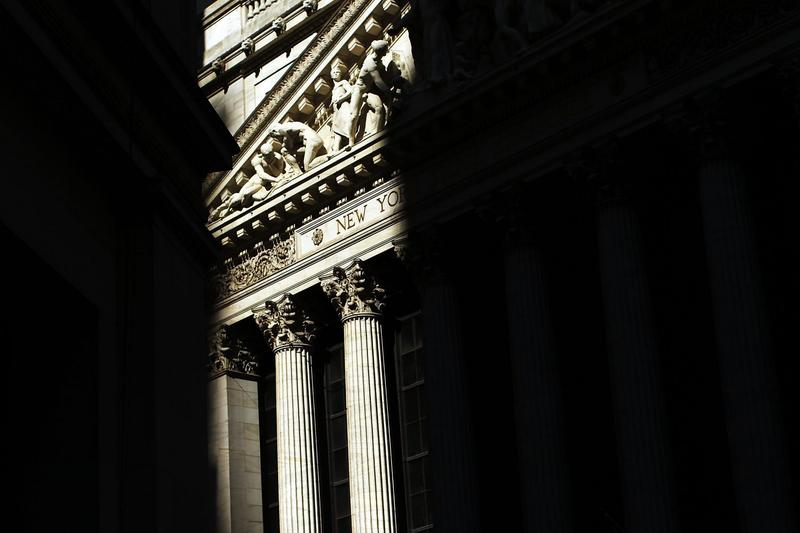 The sun rises over the New York Stock Exchange before the opening of trading in 2010 in New York. (Spencer Platt/Getty Images)