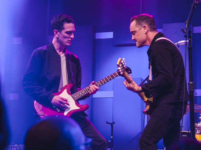Dave Hause (right) performs live at World Cafe Live in Philadelphia.