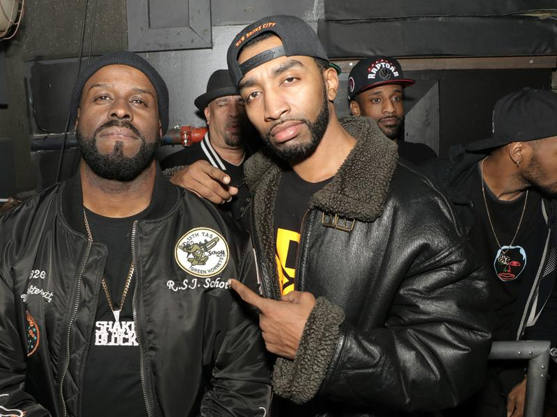 Funkmaster Flex (left) with Mysonne, whose freestyle on Flex's radio show has endured well past digital sell-by dates.