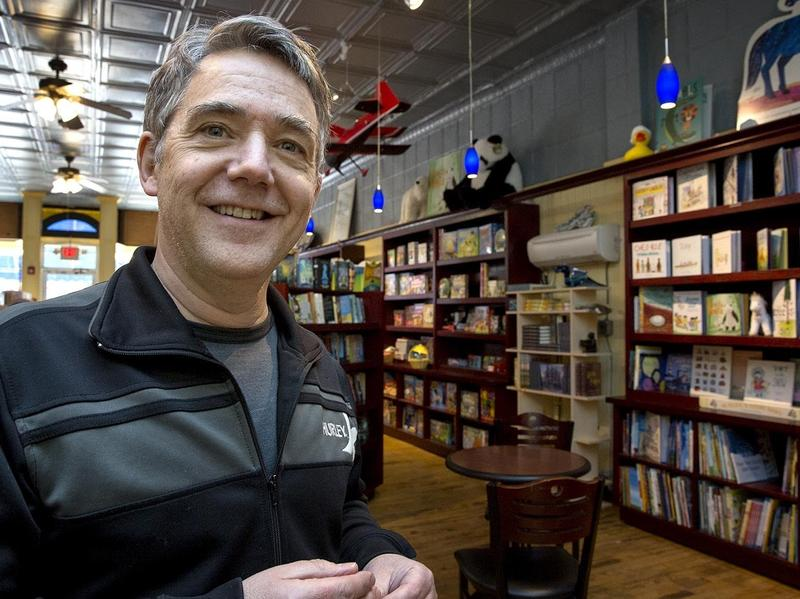 Peter Reynolds, owner of Blue Bunny Books in Dedham, Mass., says he hopes the unique atmosphere will keep customers coming to independent bookstores like his.
