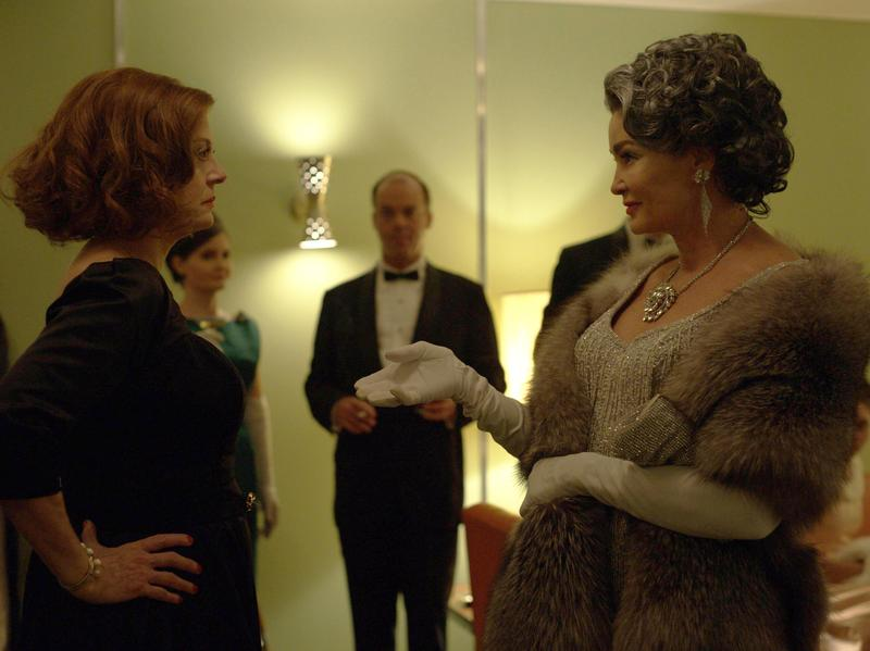 <em>Feud</em> tells the story of Bette Davis (Susan Sarandon) and Joan Crawford (Jessica Lange) in the early 1960s, a time when both actresses were struggling to find work.
