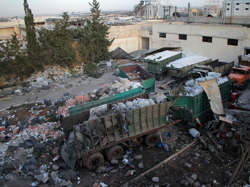 A U.N. report Wednesday said Syrian forces deliberately targeted an air strike against a convoy on its way to deliver humanitarian aid in Aleppo in September. At the time, the U.N. said at least 18 trucks in the 31-vehicle convoy were destroyed.